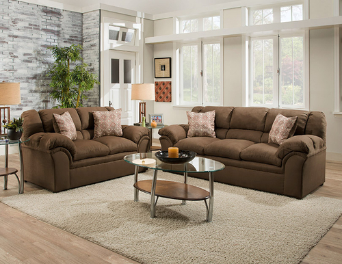 Simmons Furniture 1720 Venture Chocolate Living Room Set