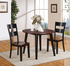 8202 Black & Cherry Drop Leaf Dining Set